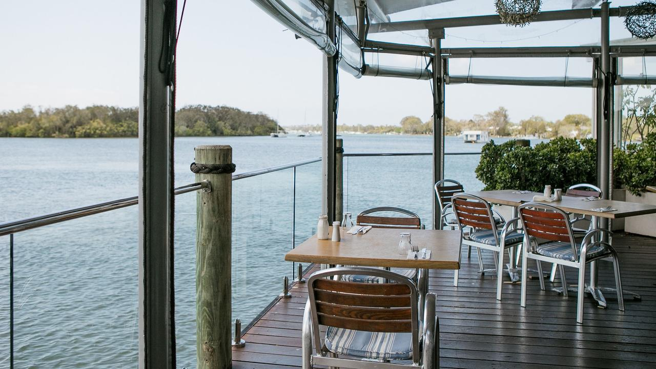The view from the Noosa River Deck at Tewantin's Noosa Marina.