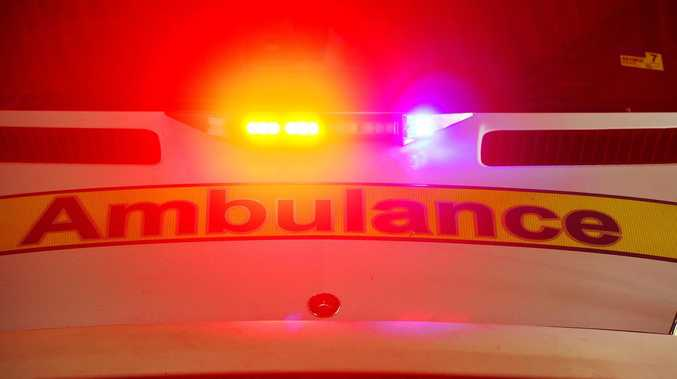 Motorbike crash: Injured teen taken to hospital