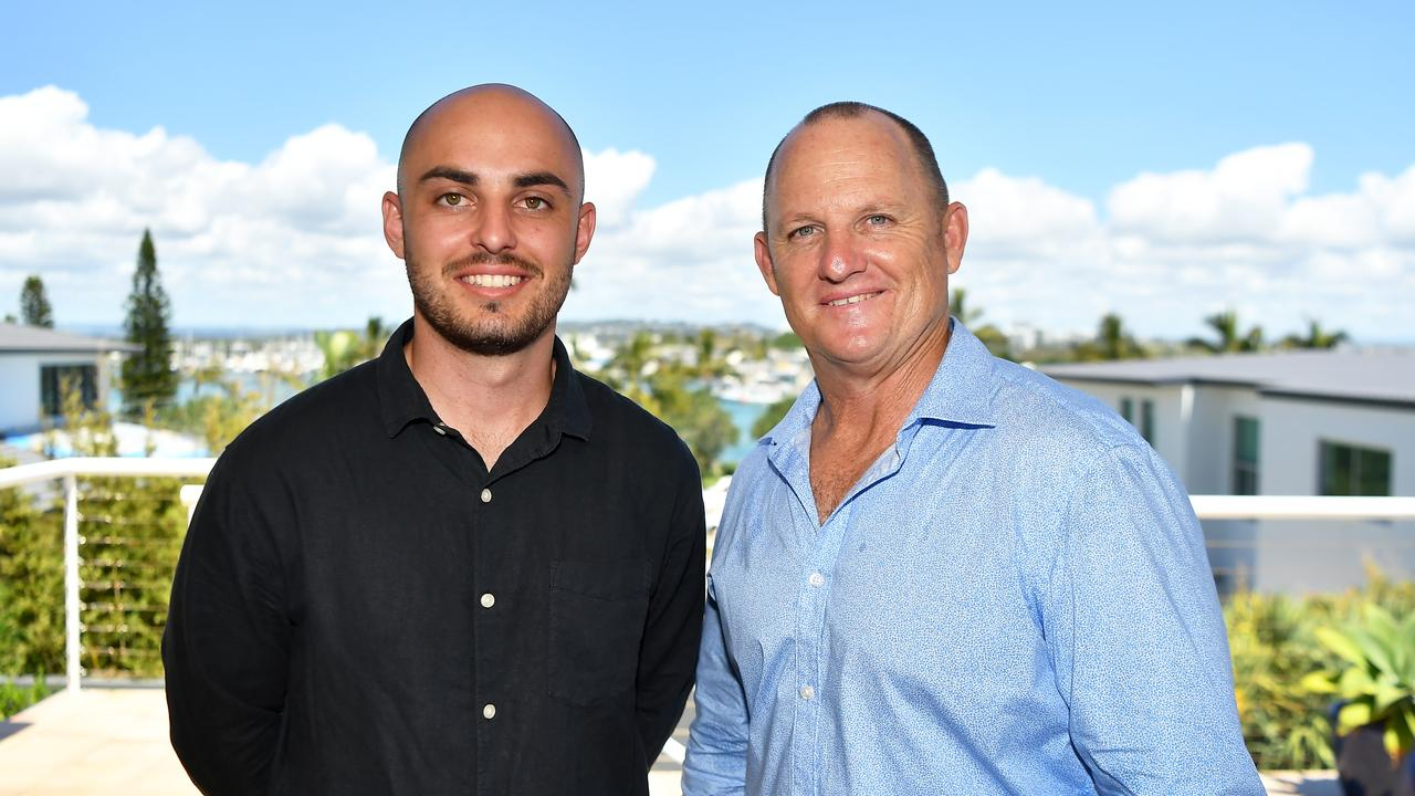 Queensland Rugby League legend Kerrod Walters is back selling real estate on the Sunshine Coast and has a new member on his team, his 24-year-old son Brooke. The former Australian, Maroon and Brisbane Broncos number 9 has signed-up with Elite Lifestyle Properties, where he's welcoming the opportunity to mentor Brooke. Picture: Patrick Woods.