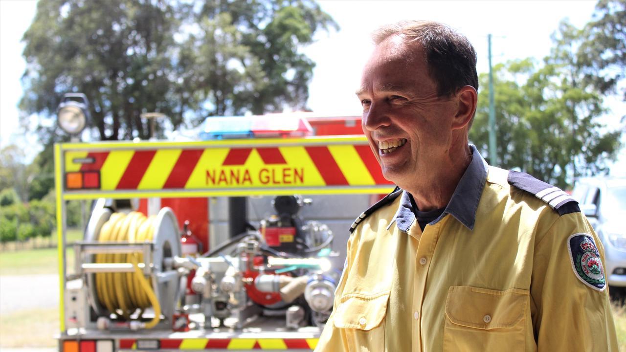 Tim Jeffery of the NSW Rural Fire Service Bonville brigade. Photo: Tim Jarrett