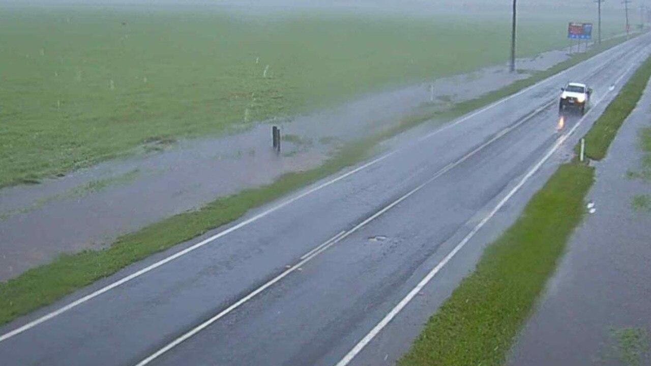 Hamilton Plains flooding as at 9am on Tuesday, January 12. Photo: Whitsunday Regional Council