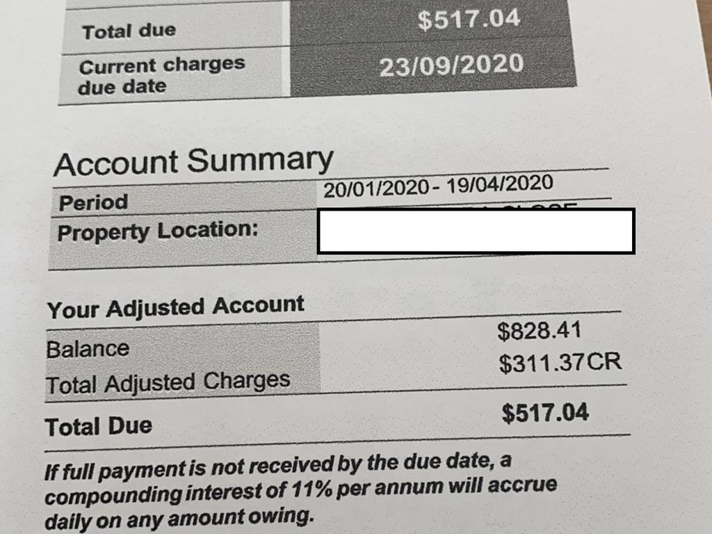 The Wellen's family was initially charged almost $830 for an incorrect water bill.
