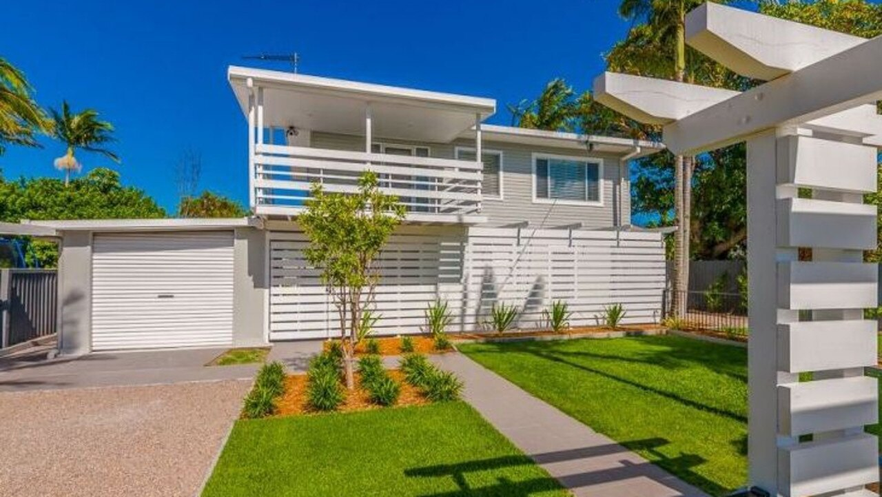 This four-bedroom beach house at 10 Mirree Ave, Bellara, is for sale for $498,500.