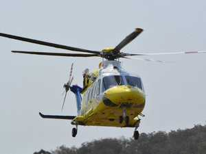Rescue helicopter en route to horrific Burnett crash scene