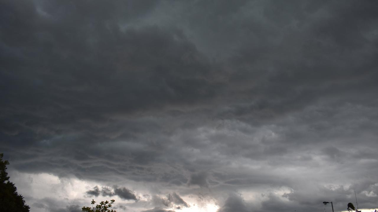 Threatening storm clouds develop over Gympie. FILE PHOTO.