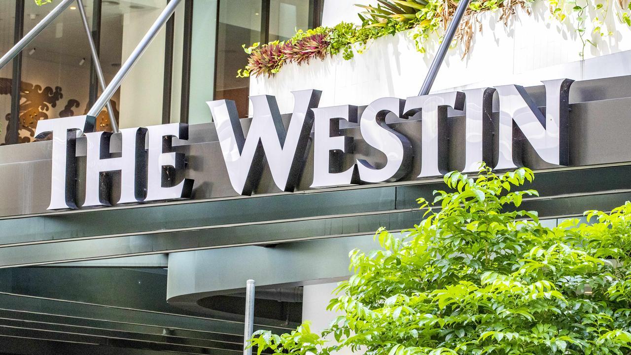 The Westin Hotel in Brisbane. Picture: Richard Walker