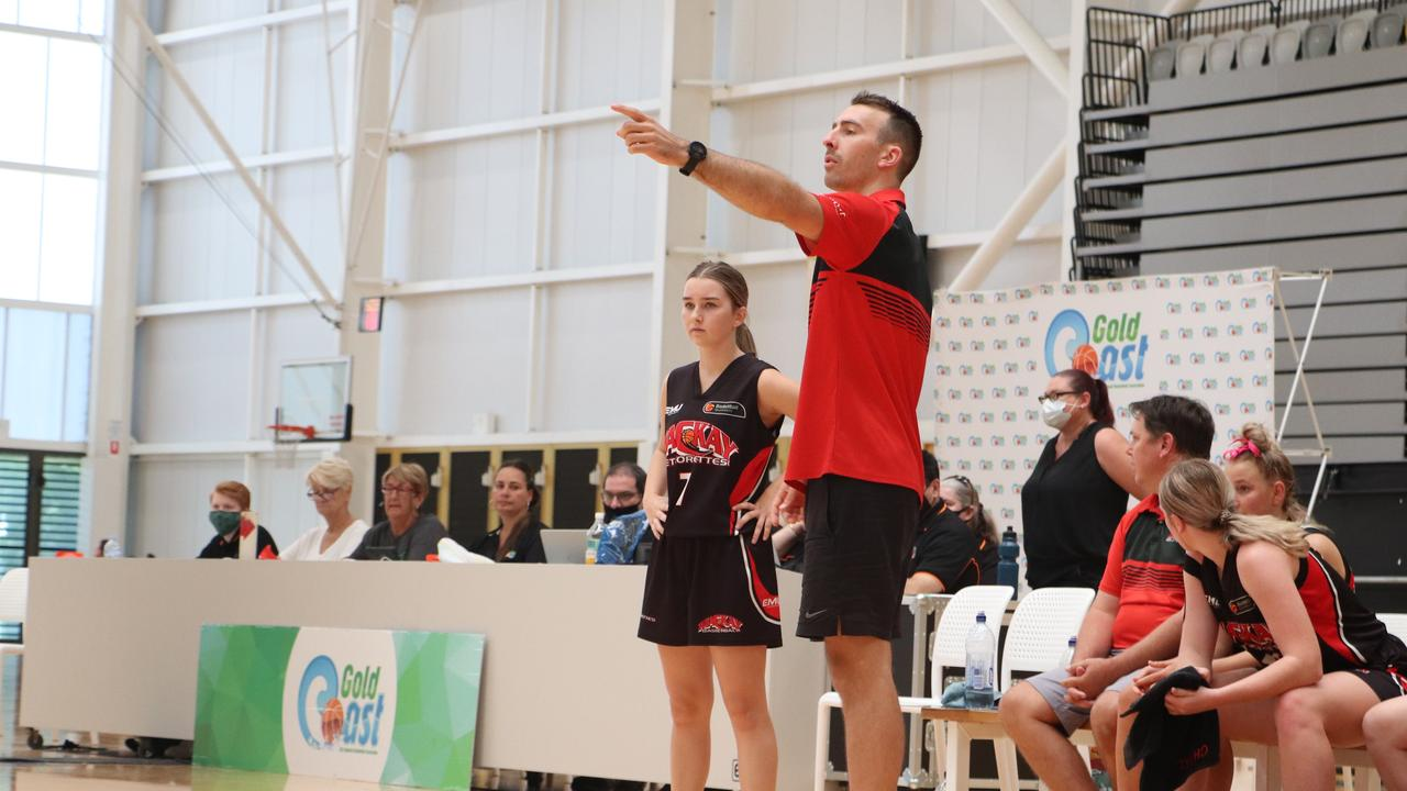Mackay Meteorettes coach Lukass Blicavs. Picture: Basketball Queensland