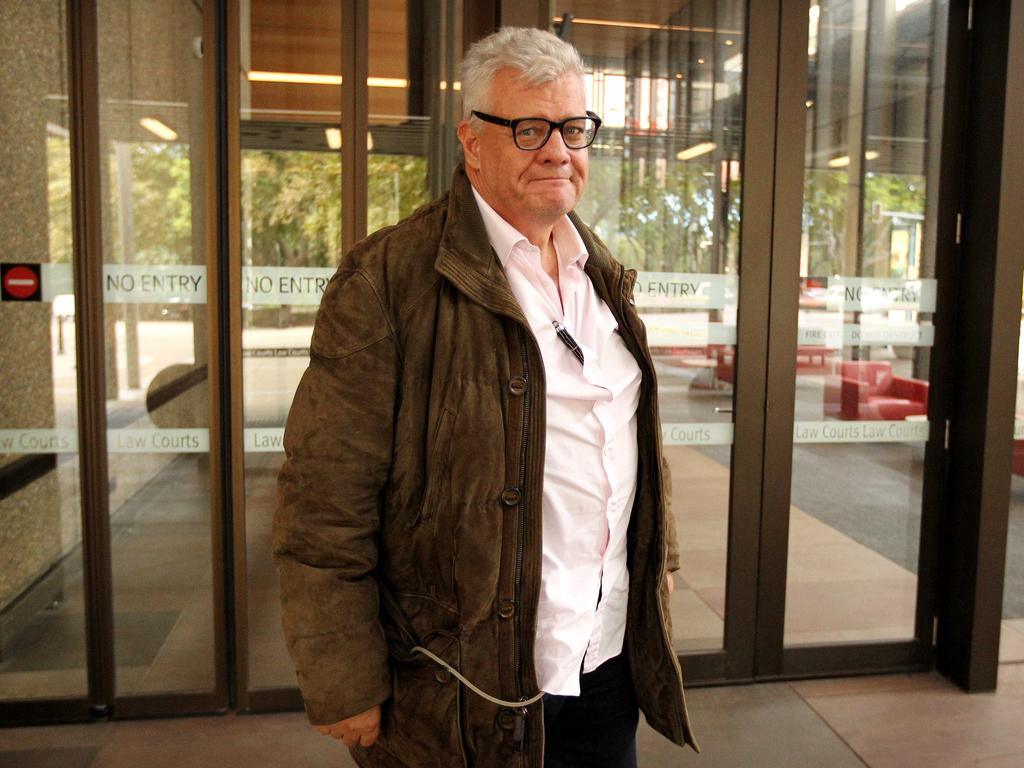 Colourful business figure Jim Byrnes was convicted in 2006 of smashing Mr Ekes' office window. Picture: News Corp