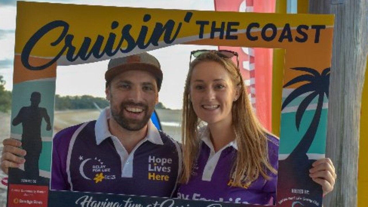 Sam Blacker and Tina Holliday Smith at the 2019 Sarina Cruisin' the Coast Fun Run. Picture: Callum Dick.