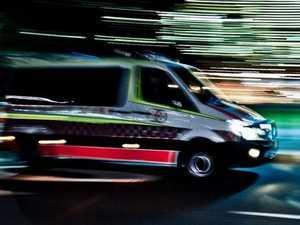 Mackay CBD crash, motorbike rider injured