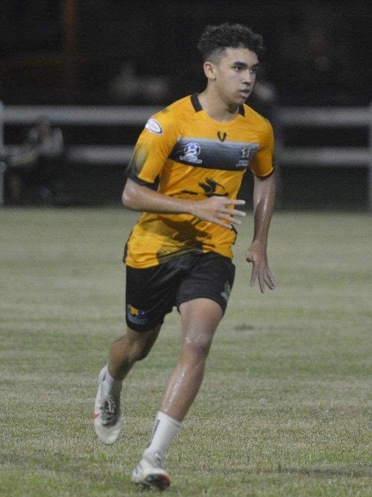 Denzel Bobongie, 17, has grown as a midfielder under the tutelage of Magpies Crusaders coach Tom Ballantyne..