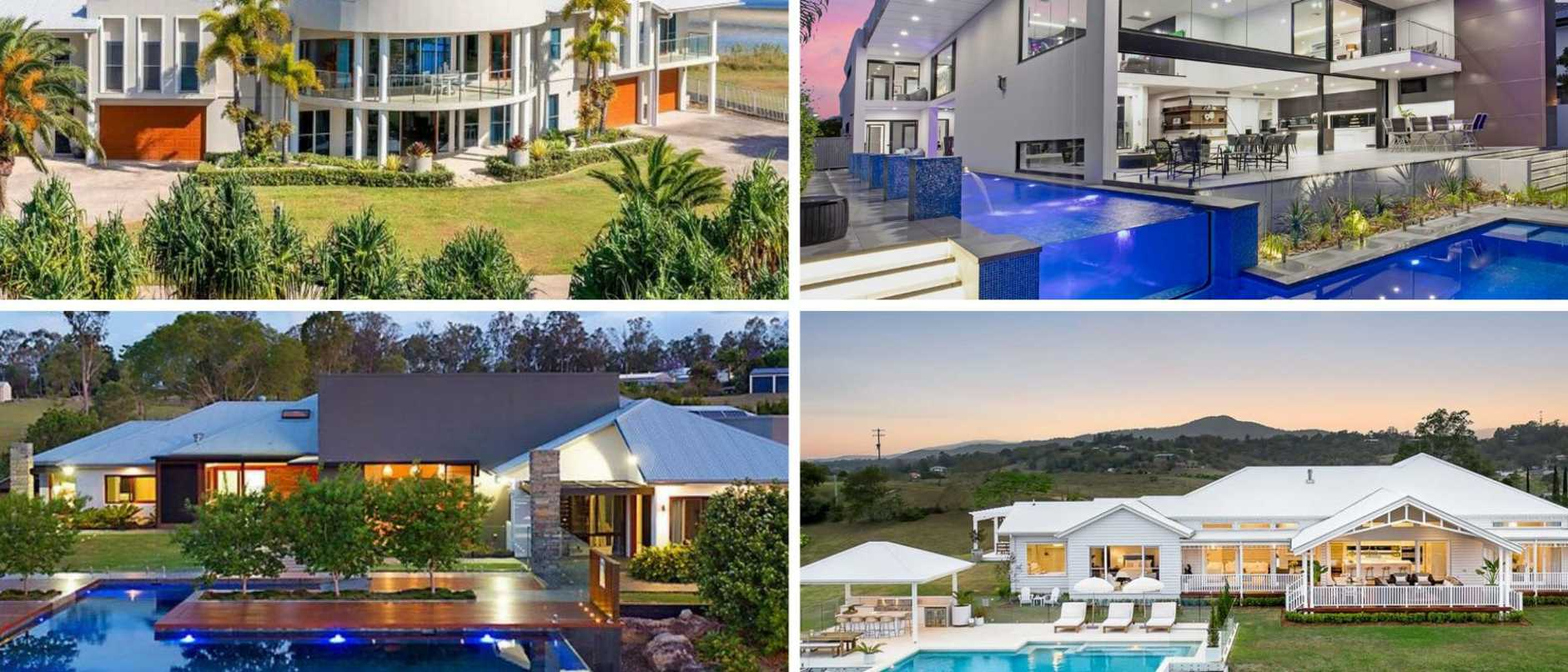 Decked out with resort-style swimming pools, cinemas and ocean views some of fanciest homes on the market.