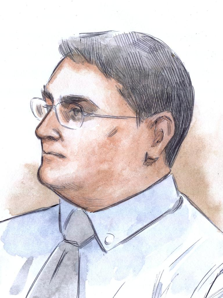 A court sketch of Claremont killer Bradley Robert Edwards. Picture: AAP Images