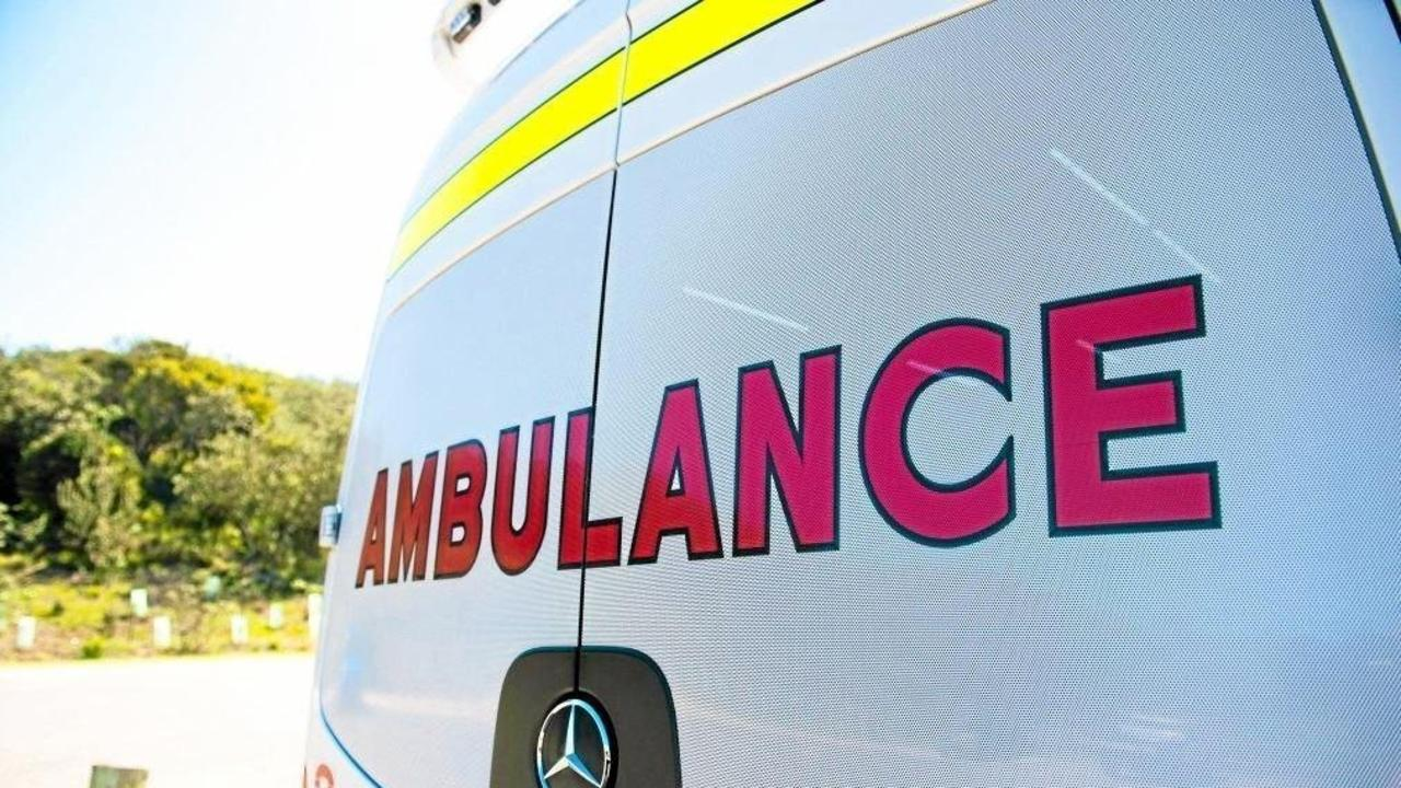 A woman in her 60s was taken to hospital in a stable condition after a two-vehicle crash in Adare on Saturday morning.