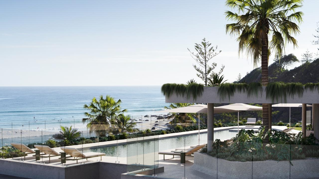 Artist impression of the $380 million new Kirra Beach Hotel redevelopment