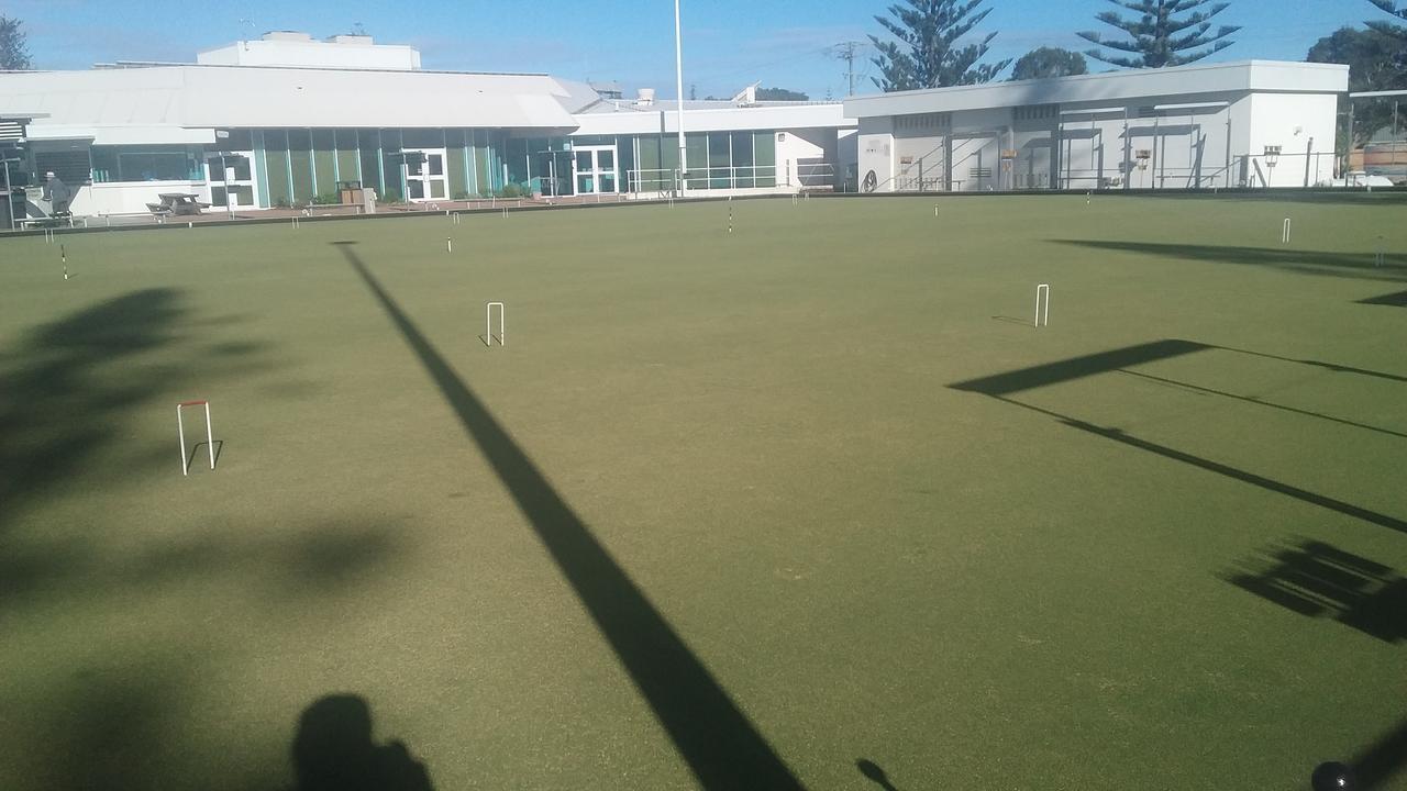 Yamba Croquet court looks good after recent rain and sunshine.