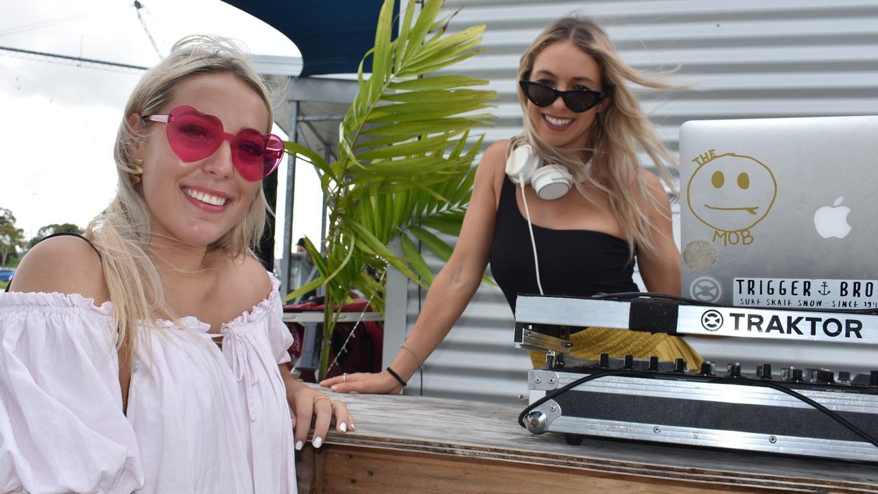 SUNDAY SESH: Nicole Pillhofer and DJ Nina Sinclair. Picture: Melanie Whiting