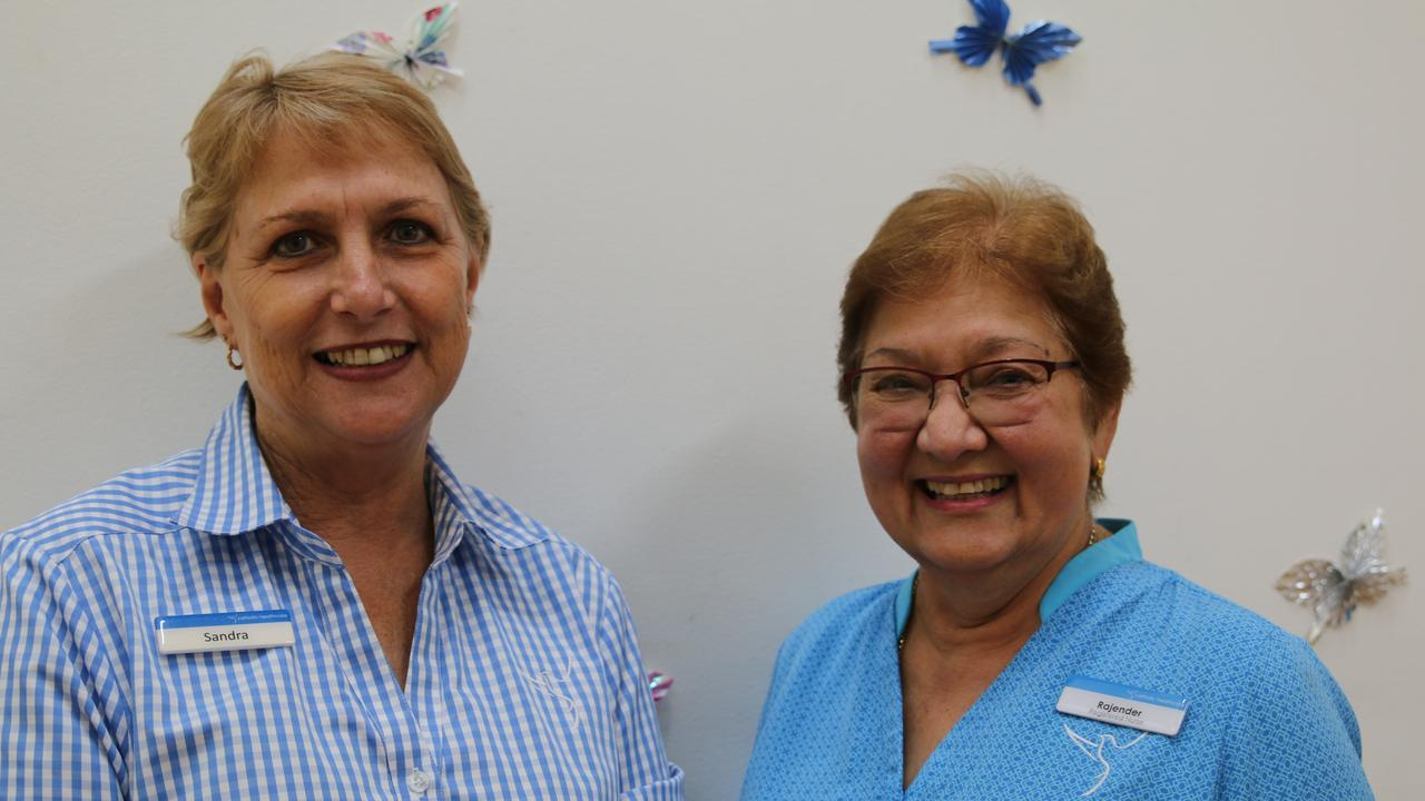 St Francis Residential Aged Care Grafton residential manager Sandra Winters with registered nurse Rajender Lamont, who came out of retirement to help address a shortage of aged care registered nurses in Grafton.