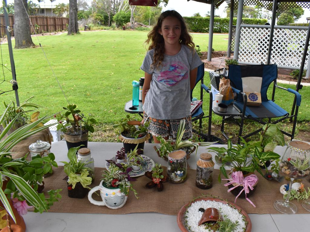 Young and driven, Shiloh is the creative mind behind small business and market stall Tiny Terrariums. Picture: Rhylea Millar