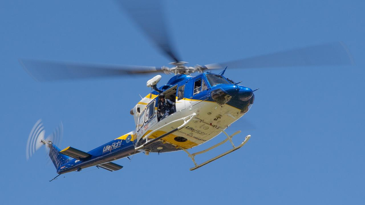 A girl was airlifted to hospital after a skiing accident at Lake Moogerah on Sunday morning. Photo: File