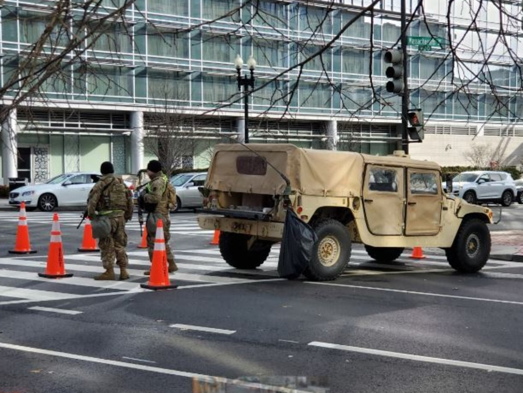 Security lockdown scenes in Washington DC. Picture: Nathan Vass, News Corp