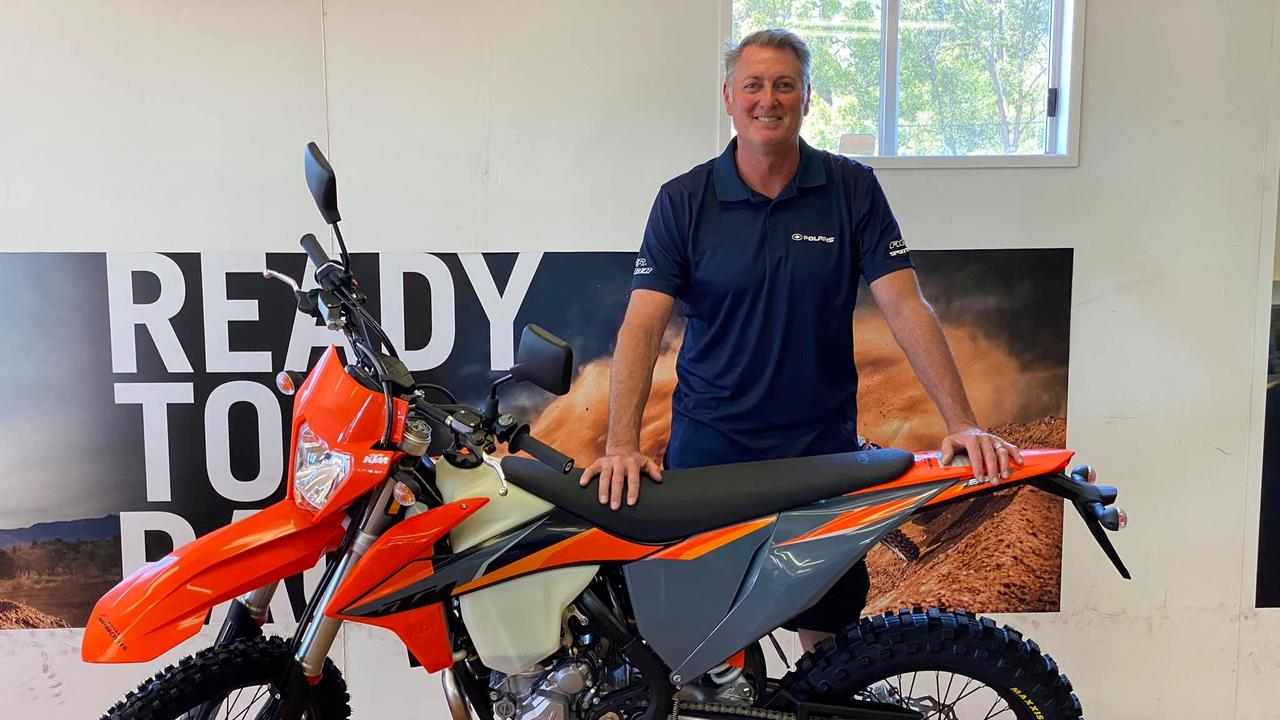 Glen Patten, 53, was a respected member of the motorcycling community. He died in a crash with a campervan at Black Mountain when on his way home to Cooroy.