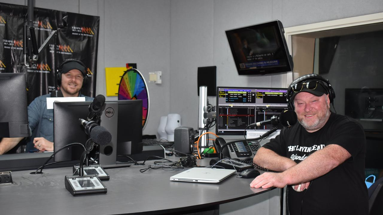 Jay Shipston and Dave Peters are celebrating 10 years on air as hosts of the Jay and Dave breakfast show on Triple M. Picture: Tara Miko