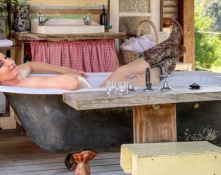 Tamara Wrigley says making the most of unusual features and furnishing a holiday property is the fun part. Picture: Supplied