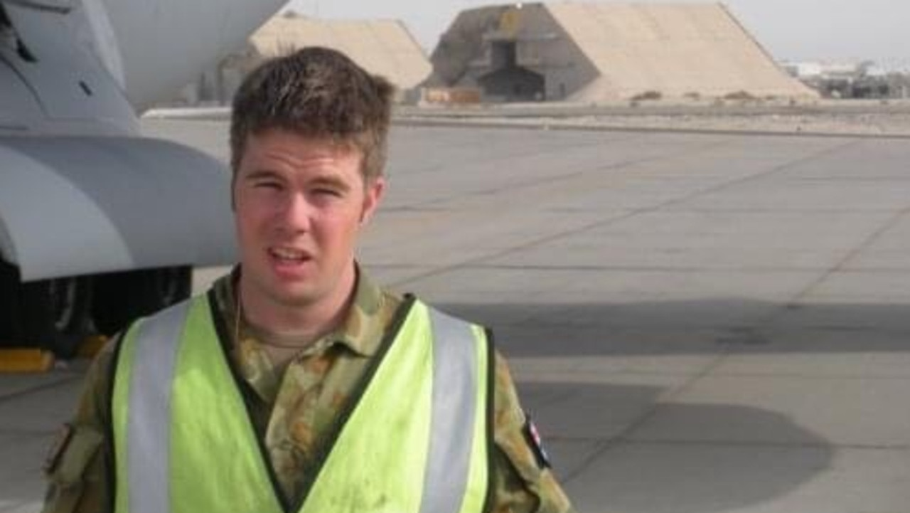 Jamie Angus took his own life at RAAF base Amberley on May 11, 2009.