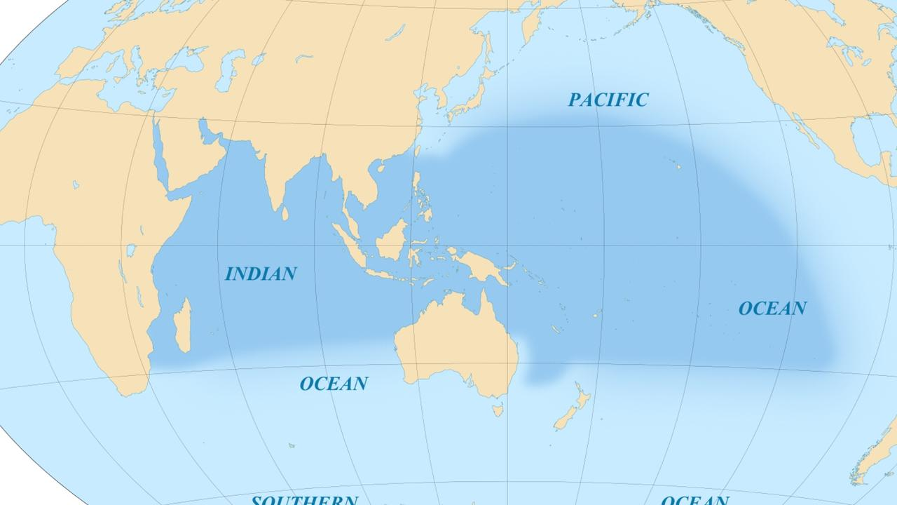 What is and isn't the Indo Pacific (above) and Asia Pacific is contested. But Beijing is said to feel Indo Pacific lessens its role in the region. Picture: Eric Gaba/Wikimedia Commons