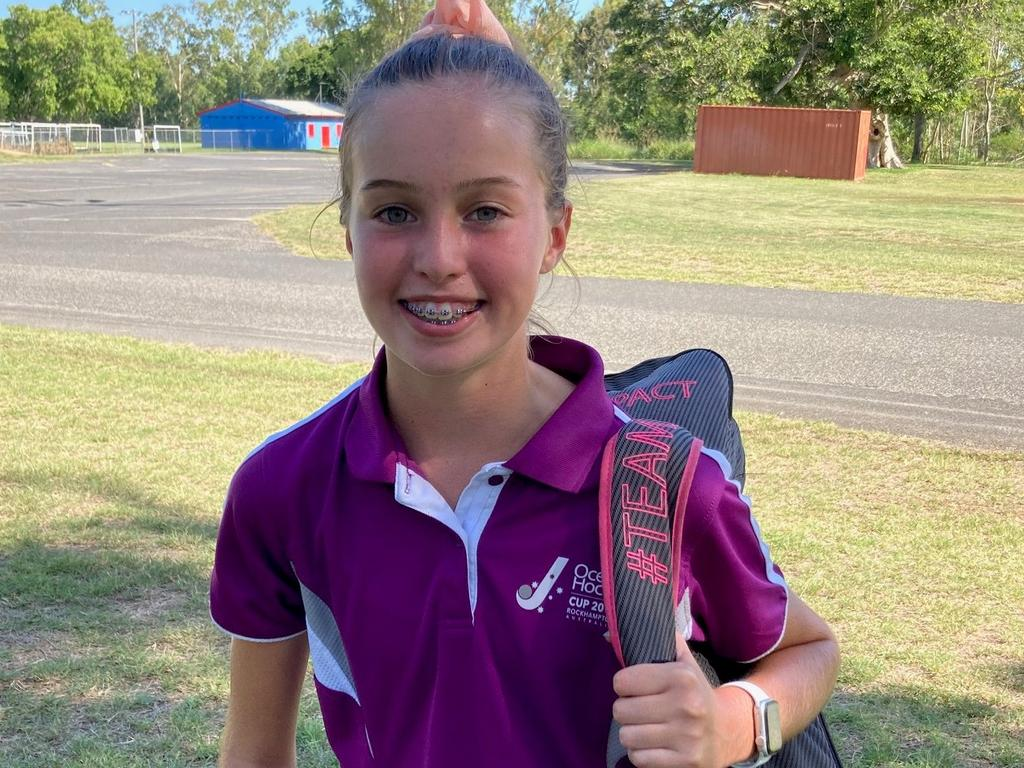 Gladstone's Annaliese Adamson was among the CQ hockey players who attended the CQ Development Camp in Rockhampton at the weekend.