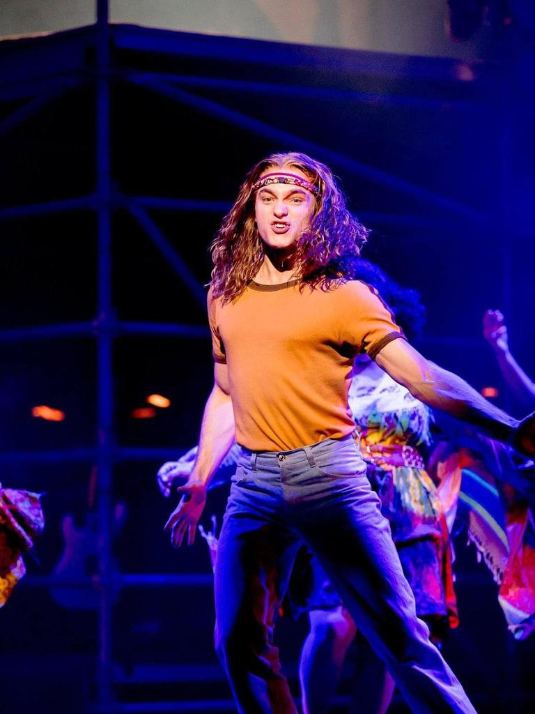 Matthew Manahan in the Sydney Opera House's 2019 production of Hair.