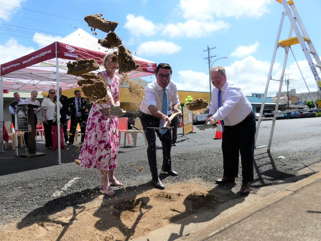 Agricultural Minister David Littleproud joined Mayor Brett Otto in officially launching the Kingaroy Transformation Project. Photo/Holly Cormack.