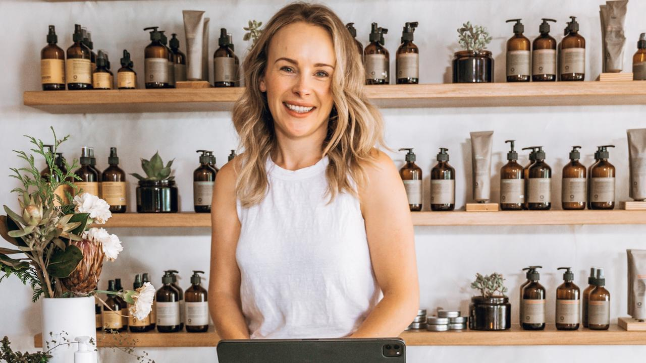 Si. Organics founder Sam Pittendrigh is excited about her business's move into a new Noosaville shop. Picture: Michelle Clark.