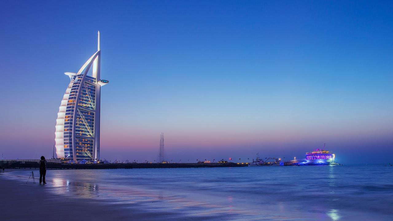 Dubai's seven star hotel Burj Al Arab. Picture: Badahos