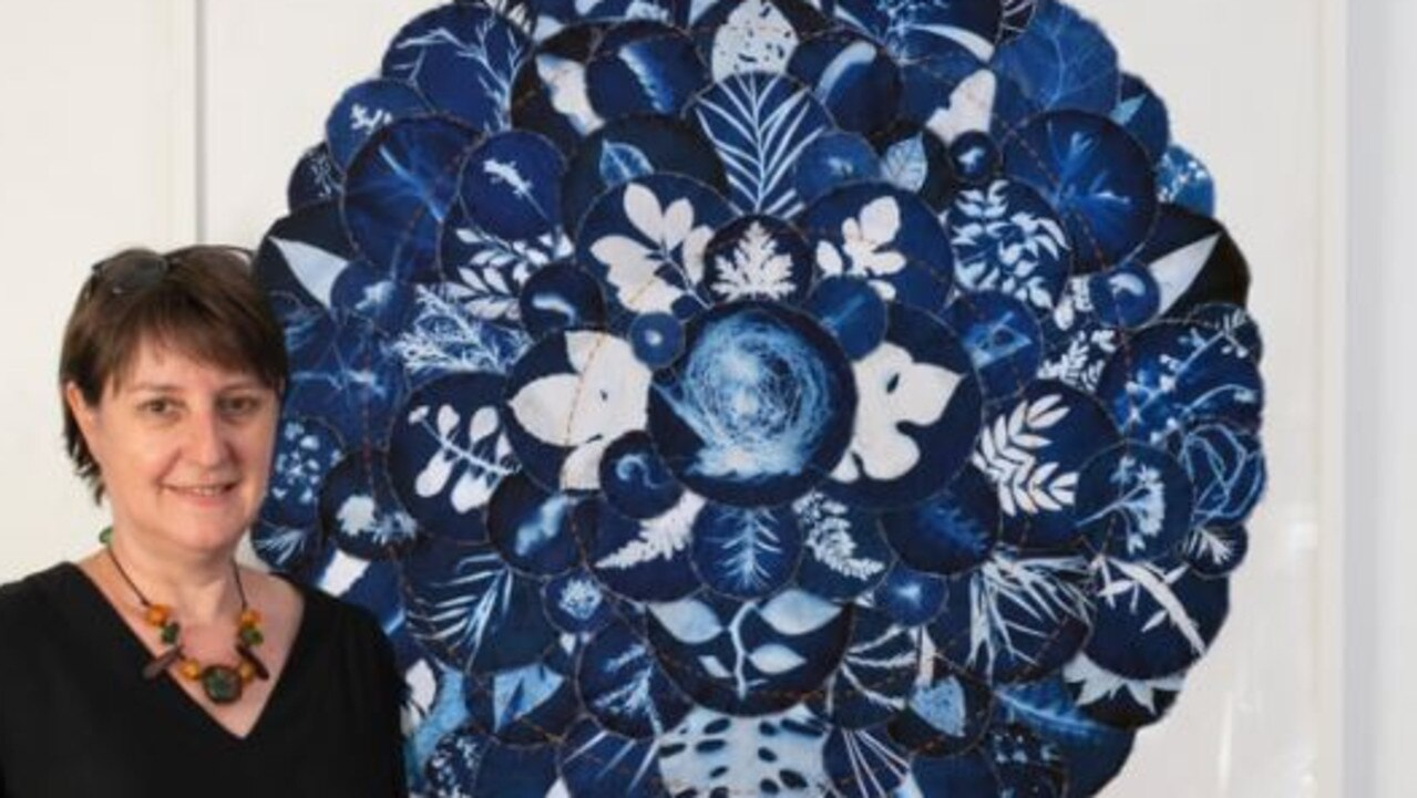 LeAnne Vincent with her piece 'Flourish'.