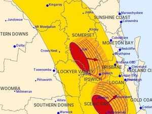STORM WARNING: Cells converging over Ipswich