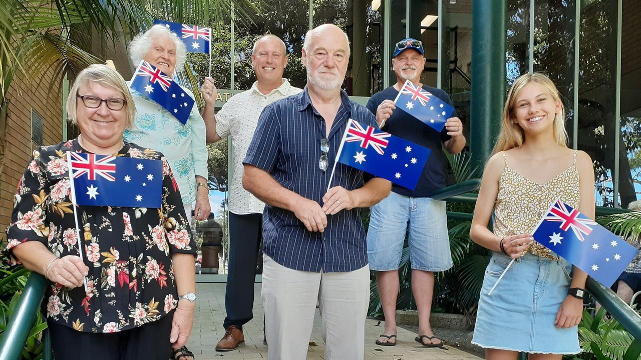 Clockwise from top left Coffs Harbour Australia Day award nominees Beth Rogers, Michael Bourne, John Lardner, Rosie Smart, John Higgins and Julie Ferguson.