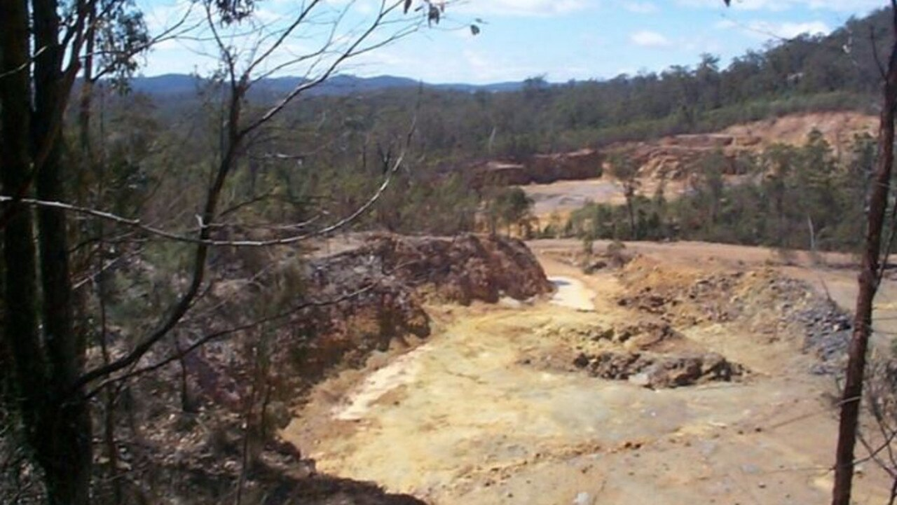 Open pits at White Rock Minerals' Mt Carrington site, near Drake.