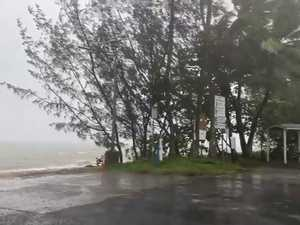Kurrimine Beach as Cyclone Kimi approaches