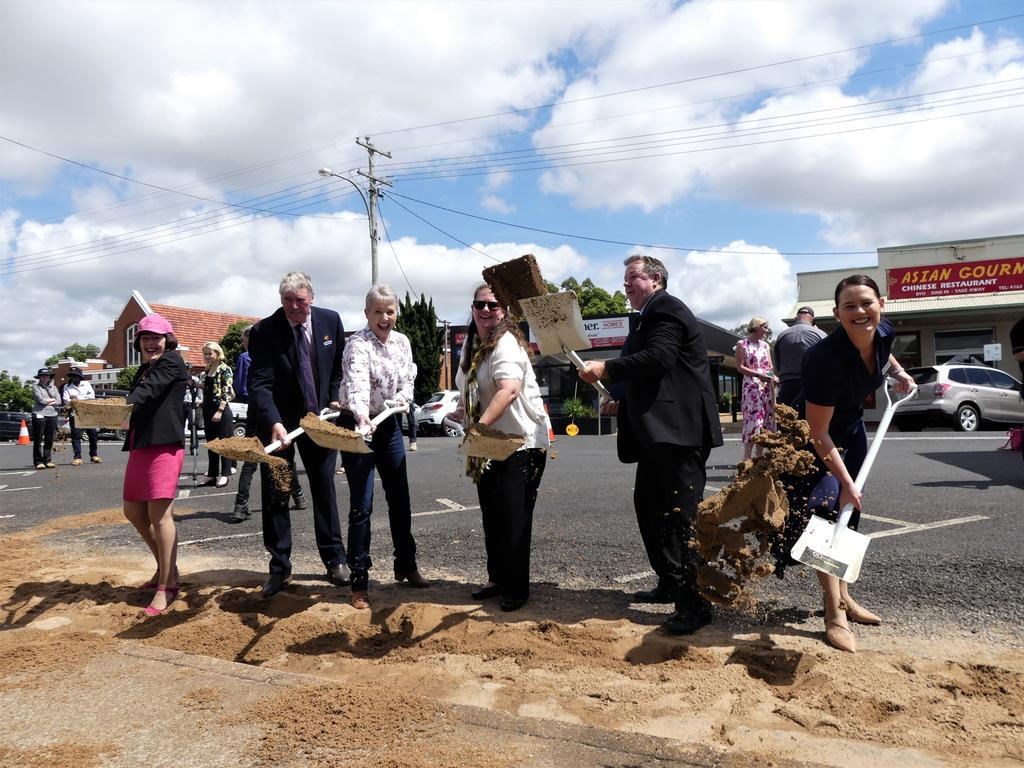 Official groundbreaking ceremony for the Kingaroy Transformation Project. Photo/Holly Cormack.