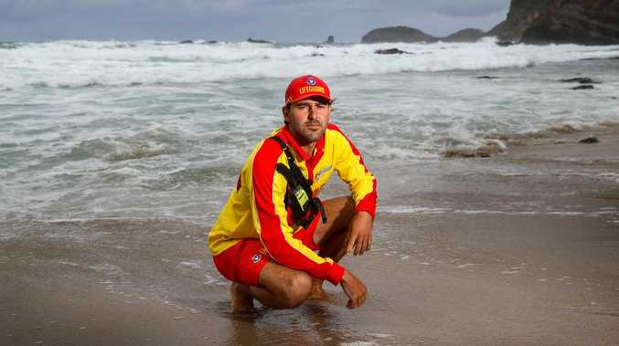 'Luck' on lifeguard's side during heroic rescue