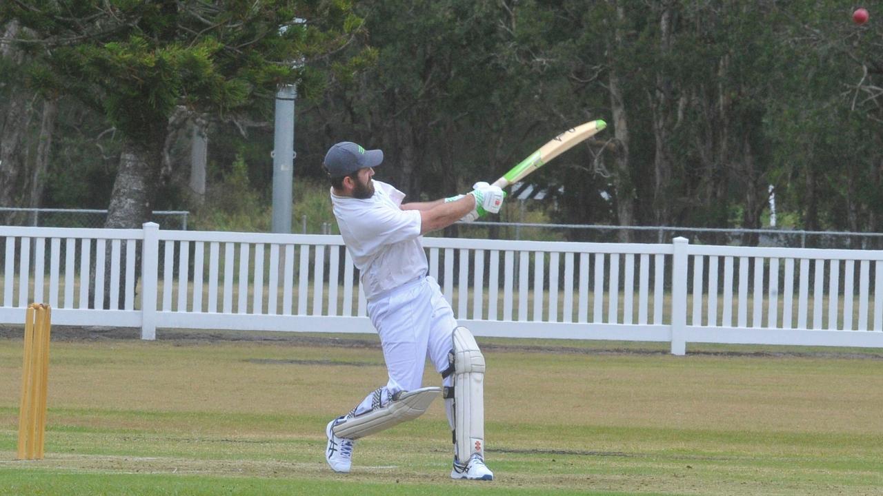 Maclean United batsman Dan McColl went big against Woodford Island Warriors with 104 off 49 balls.