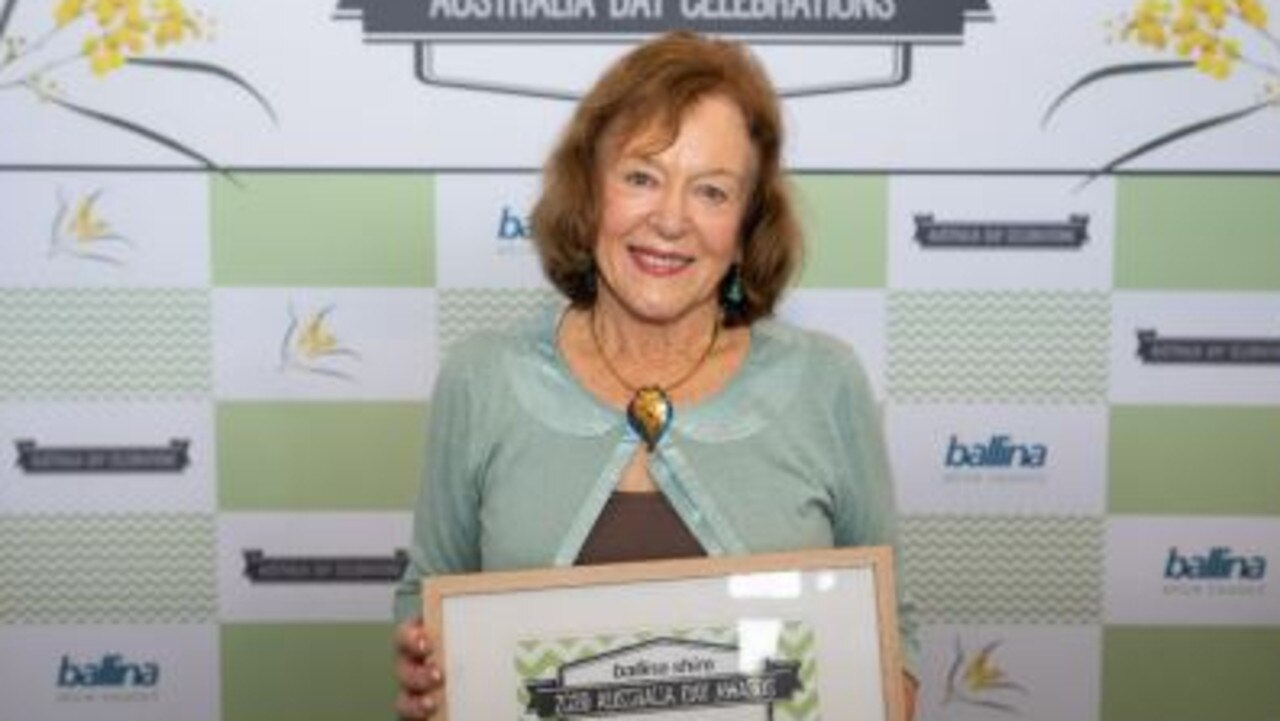 Anne Thopmson, 2020 Ballina Shire Citizen of the Year, will be part of this year's ceremony.