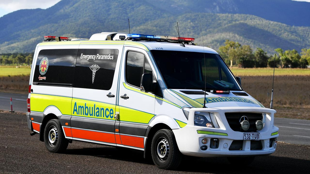 Paramedics were called to the Toolara Forest crash just before 4pm. Picture: Alix Sweeney