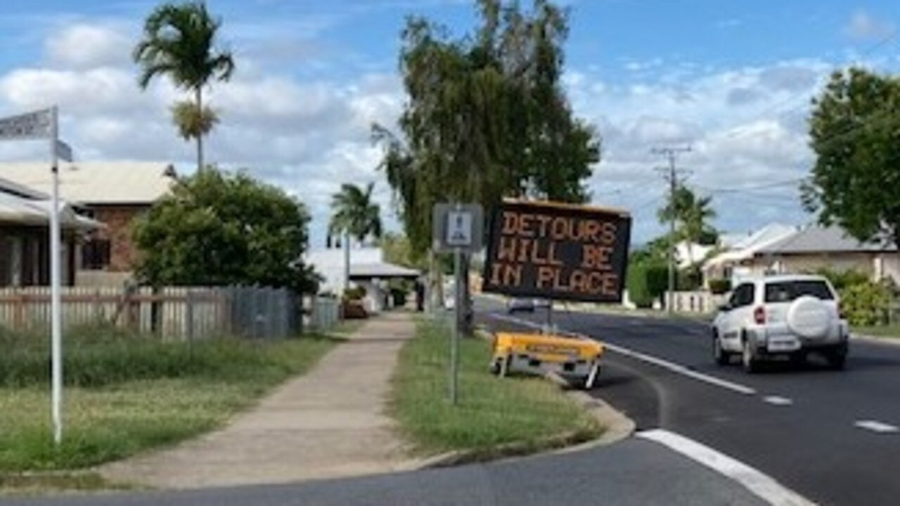Digital message boards have been up since last week alerting motorists to roadworks on Upper Dawson Rd.