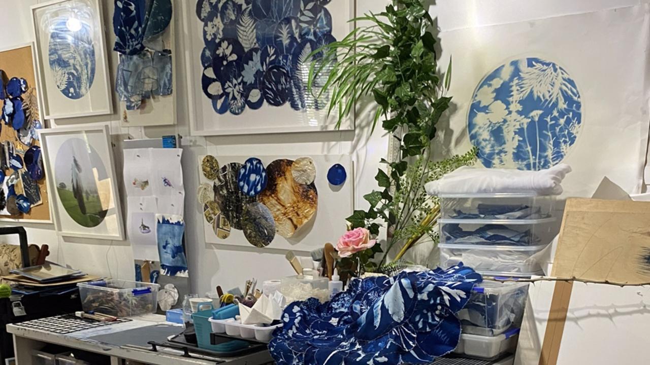 Inside LeAnne Vincent's studio. Pic: Ipswich City Council