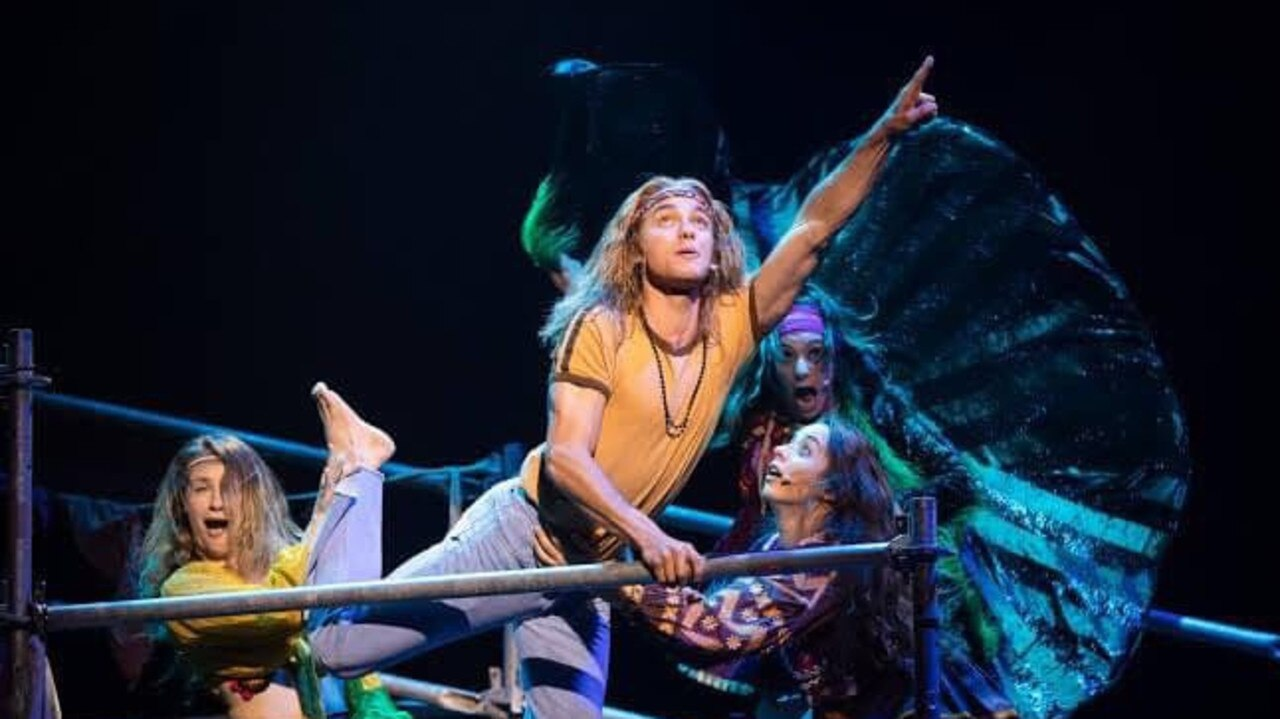 HAIR RAISING: Matthew Manahan in the role of Claude in Sydney Opera House's 2019 production of Hair