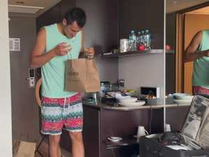 Inside Tomic's hotel quarantine room