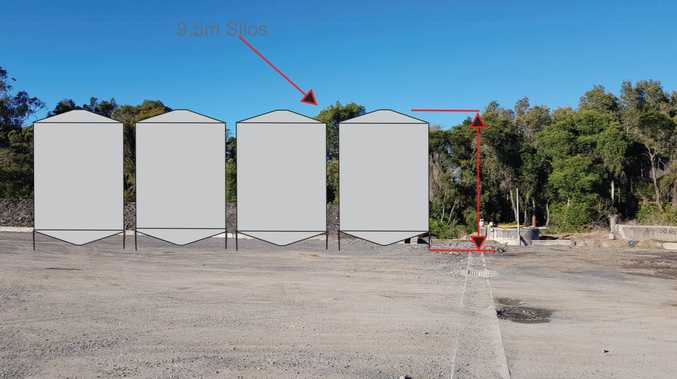Up to 30 silos, almost 13m high, proposed for Ballina Shire
